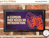 On Sale Clemson University Tigers A Clemson Man Needs No Introduction Antique Vintage Style Plaque Sign Wall Home Decor Art Gift Official Li