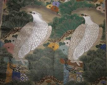 "19th Century Silk Brocade Gold MetallicPanel..NOS..24"" by 27""...Americana..Eagles"