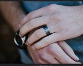 Mens Ring - Mens Wedding Band - Mens Gift - Sterling Silver Ring - Hammered Ring - Rings