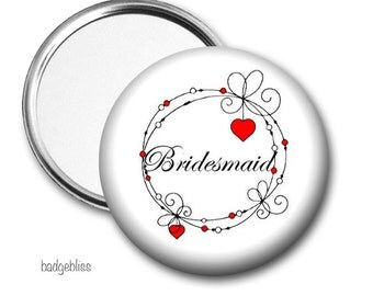 Bridesmaid Pocket mirror, purse mirror