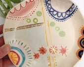 Large ceramic display bowl, handmade ceramic serving tray, serving dish, fruit bowl, trinket dish, colorful gift, Mother's Day gift