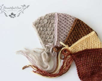 Knitting Pattern - Thatcher Bonnet - All Yarn Weights - Newborn Photography Prop