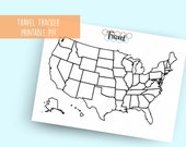 Printable Travel Tracker PDF in A4, A5, and Letter for Bullet Journal- Hex