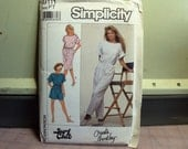 Women's jumpsuit pattern, dress pattern, shorts jumpsuit, PT size, retro 1989