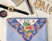 Jewelry Organizer Zipper Pouch Gingham Fabric Easter Outfit Baby Shower Gift Travel Bag Purse Organizer Cosmetic Pouch
