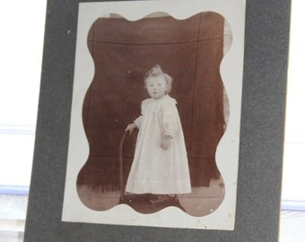 Country Child Cabinet Card Photograph Antique 1800s