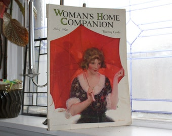 Vintage Woman's Home Companion Magazine July 1920