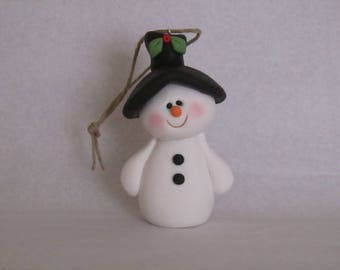 Polymer Clay Snowman Ornament