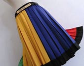MONDRIAN PALETTE . Beautiful Colorful Colorblock Skirt Yellow Green Red Blue 60s 70s