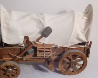 Vintage Hand Made Covered Wagon