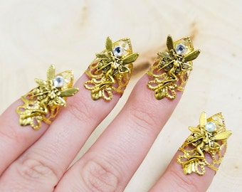 Gold fairy nail claws - set of 5