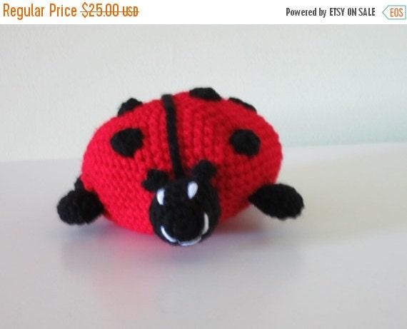 ON SALE - 10% OFF Crochet   Lady Bug