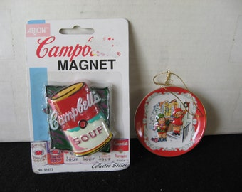 Campbell's soup  Christmas tree ornament and magnet