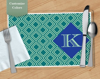 Diamond -  Personalized Placemat, Customized Placemats, Custom Placemat, Personalized Gift