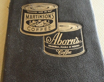 C540)   Vintage Aborn's Martinson's Daily Appointments Book genuine leather cover