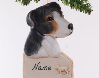 Pit Bull Personalized ornament -  black and tan american pit bull Christmas ornament - personalized dog ornament (6)
