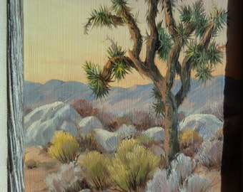 Original Oil  Painting by The Award Winning Artist Dorothy Cochrane of an exquisite and ethereal Southwestern Style Desert Landscape Scene