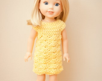 Fun in the Sun Crochet Dress Pattern- for Wellie Wishers-Crochet Pattern