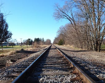 Train Track Close Up Print or Backdrop Angle 2