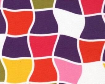 Print Fabric / Bold Geometric Fabric / Cotton /Dress Fabric / Quilt Fabric Multicolored Fabric / Fabric Finders 1230