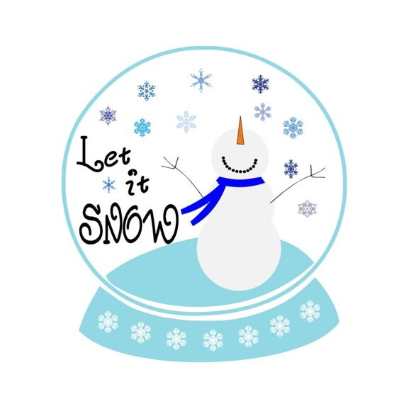 Svg snowman snow globe let it winter