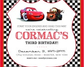 Cars Birthday Invitation ~ Mara New