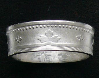 Ladies Coin Ring 1900 Portugal 100 Reis, Ring Size 6 and Double Sided