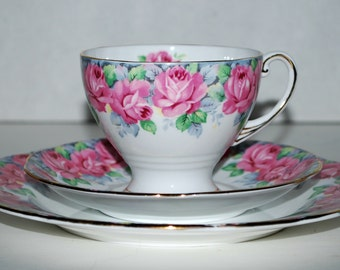 Royal Standard china trio  3 piece set Rose of Sharon  fine china