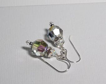 Swarovski Crystal Earrings. Crystal Paradise Shine Earrings. Sterling Silver Swarovski Earrings. Dressy. Sparkly. Swarovski Dangle Earrings.