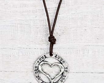 Beauty of the Soul Necklace - Quote Necklace - Romantic Heart Necklace - N737