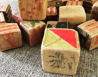 Set of 20 vintage blocks