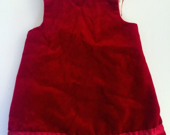 red velvet Valentine's Day dress 3-6 months