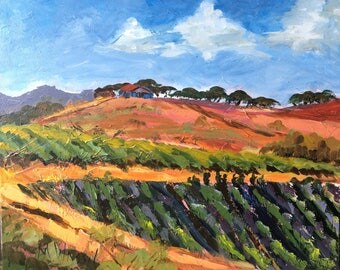 California Farm Landscape / 16 X 20 / Original Acrylic Painting