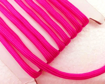 Bracelet cord 1.1 Yards (1 meter) fuschia paracord cord, Decorative Cord, braided cords, Parachute  Cord, Colorful cord, 4mm wide