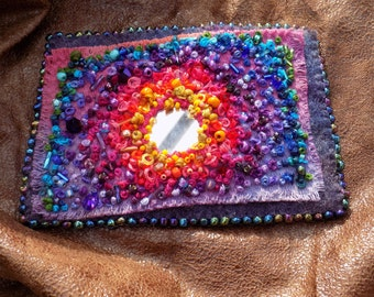 Embroidered and Beaded Brooch