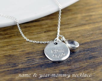 Personalized Name Necklace, Mothers Day Gift, Mom Necklace, Gift for Mom, Mother Jewelry, Personalized Gift, Hand Stamped Jewelry