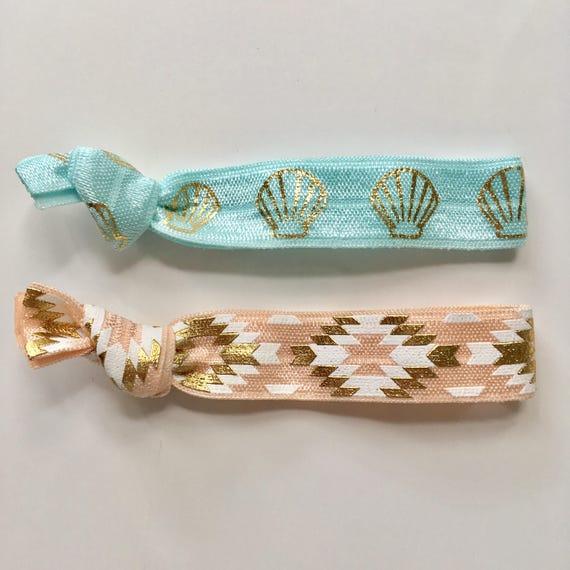 hair tie bracelets, party favour, beach bracelets, shell bracelet, beach accessory, friendship bracelets, bohemian bracelet, girl gift