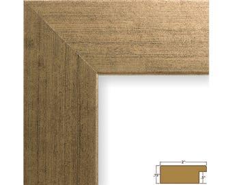 "Craig Frames, 16x20 Inch Antique Gold Picture Frame, Bauhaus 2"" Wide (740661620)"
