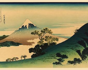 Japanese Art. Fine Art Reproduction.  Mt. Fuji Vista, c. 1832: by Katsushika Hokusai (1760-1849). Fine Art Print