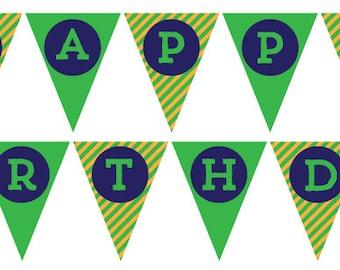 INSTANT DOWNLOAD - Dinosaur Happy Birthday Banner