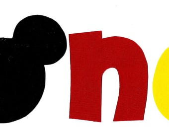 Mickey Mouse iron on one applique DIY