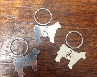 Cow Brand Keychain