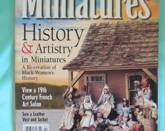 Dollhouse Miniatures Magazine Back issue February 1999 used good condition.