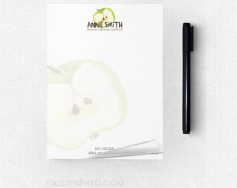 "dietitian nutritionist notepads - 4""x5.5"" - full color front - FREE UPS ground shipping"