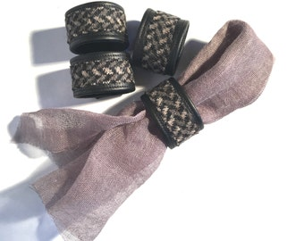 Masculine Tendencies Napkin Ring Set in Black