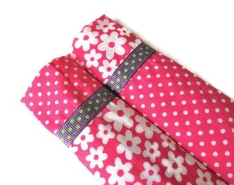 2 x Fabric Nail File Sleeves -  Protective Sleeve For Emery Board - Nail File Case - Emery Board Cover - Fabric Sleeve for Nail File