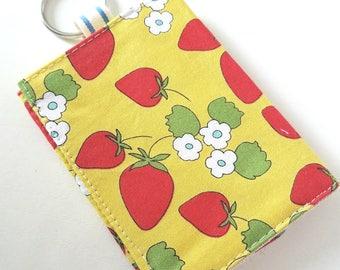 Kawaii Wallet -  Business Card Holder - Keychain Wallet - Kawaii Fabric - Lunch Money Wallet - Teacher Gift