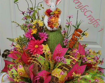 Easter, but not So Easter Centerpiece!,Easter Tablepiece,Spring Centerpiece,Easter Table Wreath,Spring Dining Decor