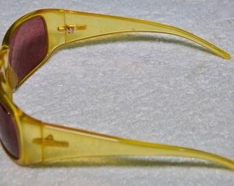 Authentic Golden Yellow Gucci Wrap Around Sunglasses