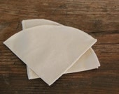SECONDS 100% Organic Cotton Reusable Coffee Filters Chemex 6 Cup,  Set of 5